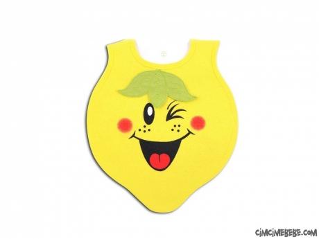 Limon Figürlü Bebek Önlük