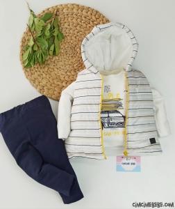 Şişme Yelekli 3'lü Erkek Bebek Takım