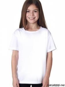 Düz Beyaz Kız Çocuk Tişört