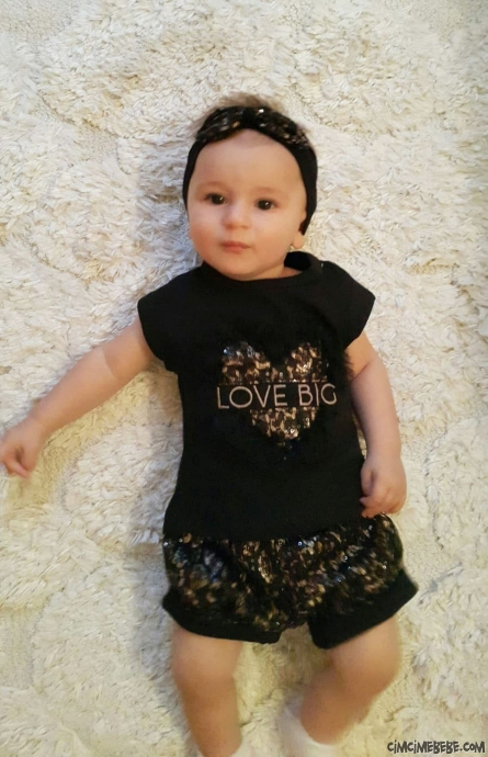 Bandanalı Kokoş Kız Bebek Takım