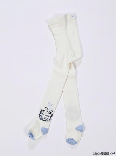 Uyuyan Ayı Baskılı Külotlu Çorap