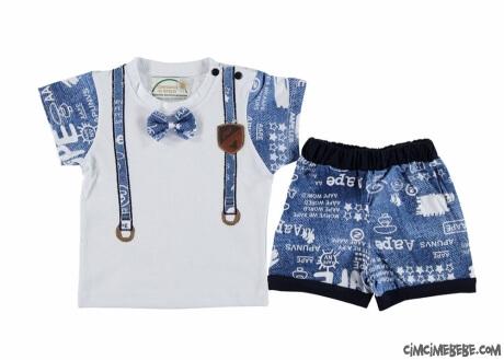 Papyonlu Şortlu Erkek Bebek Takım