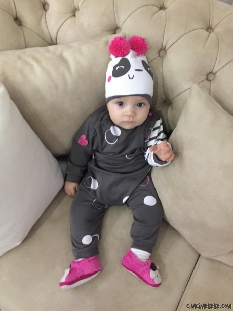 Minik Panda Şapkalı Tarz Bebek Tulum