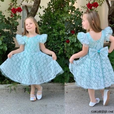Güpürlü Zarif Kız Elbise