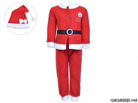 Noel Anne Şapkalı Polar Yeni Yıl Kostüm