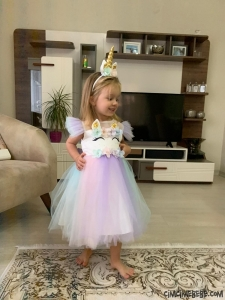 Unicorn Kız Çocuk Elbise