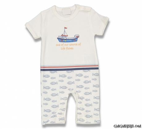Gemili Kısa Bebek Tulum
