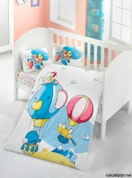 Balonlu Bebe Nevresim Takımı