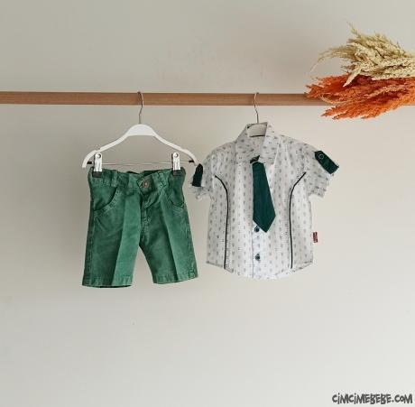 Kravatlı Gömlekli Bebe Takım