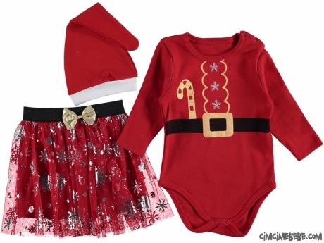 Tütü Etekli Noel Badili Bebek Takım