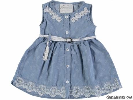 Eteği İncili Bebek Elbise