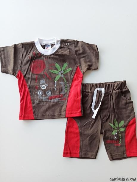 Jungle Time Şortlu Bebek Takımı