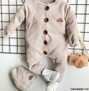 Şapkalı Kaşkorse Bebek Tulum
