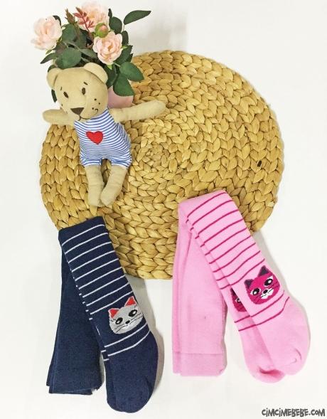 Kedi Figürlü Kokulu Kız Çocuk Külotlu Çorap