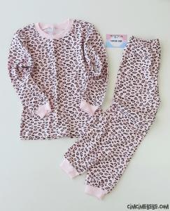 Leopar Desenli Kız Çocuk Pijama Takımı