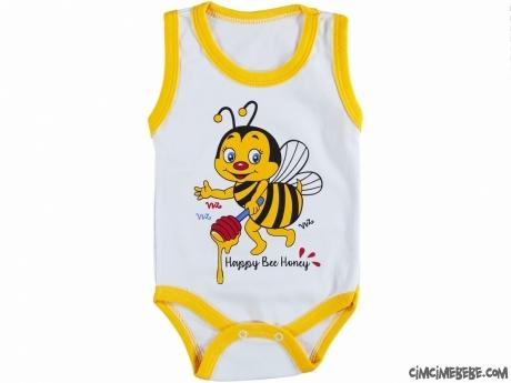 Arı Baskılı Bebek Badi