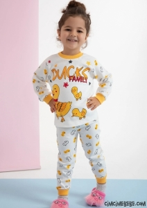 Ördek Ailesi Çocuk Pijama Takımı