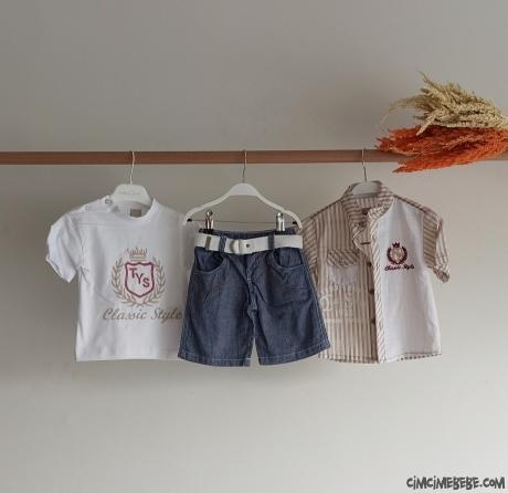 Gömlekli 3'lü Erkek Bebe Takımı