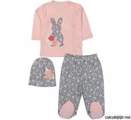 Minik Tavşan 3'lü Bebek Zıbın Seti