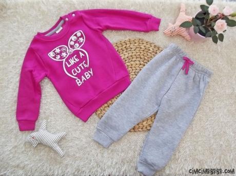 Cute Baby İçi Polar Kışlık Eşofman Takım