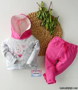 Kapşonlu Poposu Figürlü Bebek Takım