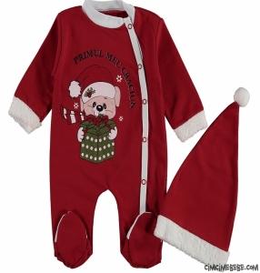 Ayıcıklı Noel Bebek Tulum