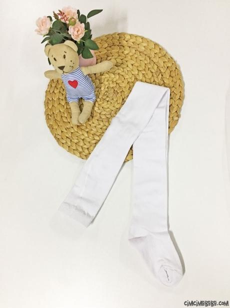 Kokulu Düz Kız Çocuk Külotlu Çorap