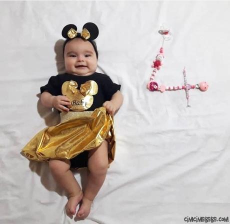Bandanalı Kız Bebek Takım