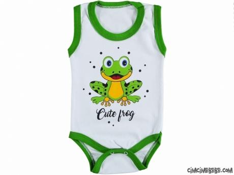 Kurbağa Baskılı Bebek Badi