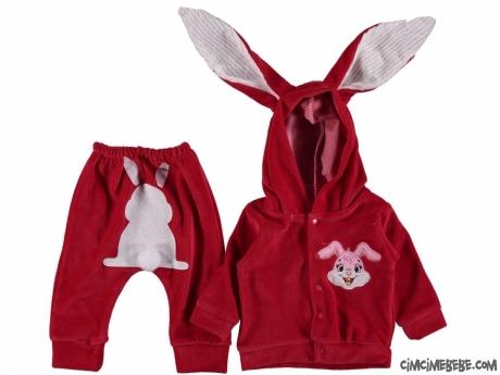 Kadife Tavşancık Bebek Takım