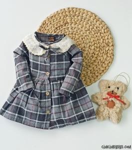Oyuncak Ayı Hediyeli Kız Çocuk Elbise