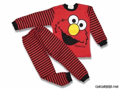 Sevimli Canavar Erkek Çocuk Pijama Takımı