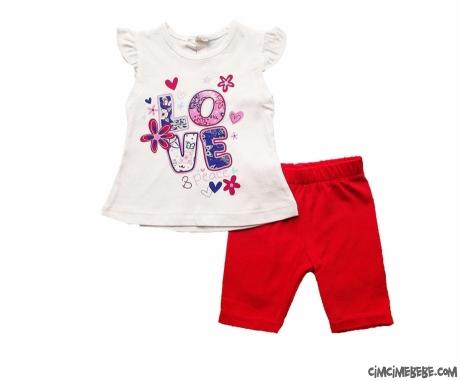 Love Kısa Taytlı Bebek Takım