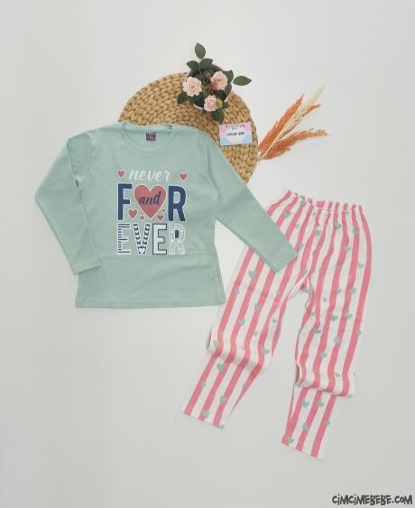 For Ever Kız Çocuk Pijama Takımı