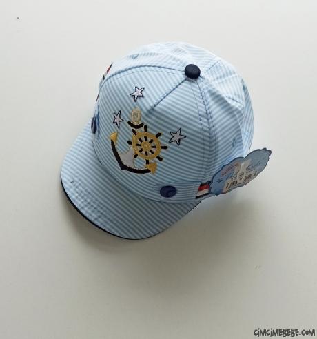 Çapalı Erkek Bebek Şapka