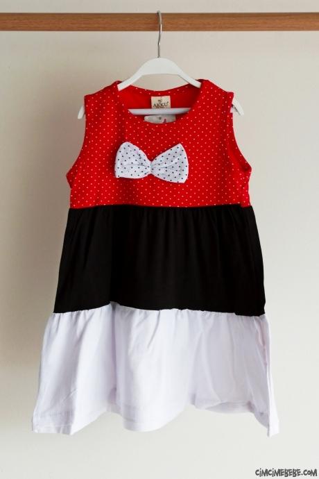 Fiyonklu Kız Çocuk Elbise