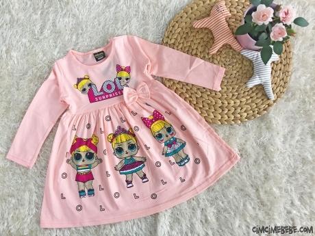 Sürpriz Kız Çocuk Penye Elbise