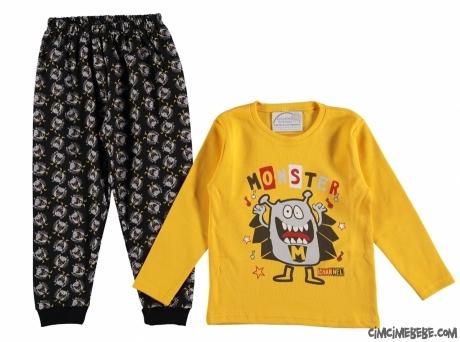 Monster Erkek Çocuk Pijama Takımı