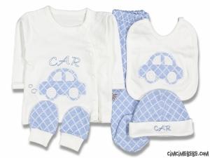 Arabalı Bebek 5'li Zıbın Seti