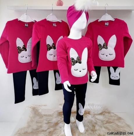 Tavşanlı Taytlı Kız Çocuk Takım