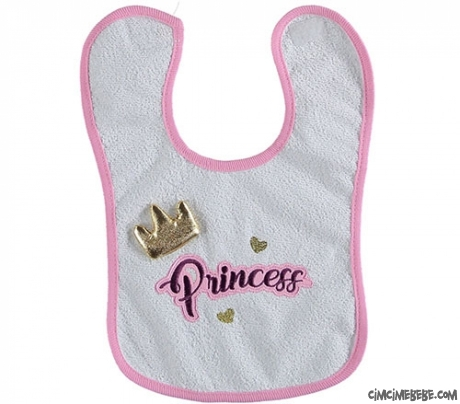 Prenses Kız Bebek Mama Önlük