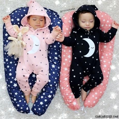 İyi Geceler Moon Penye Bebek Tulum
