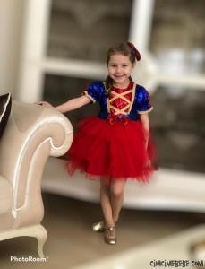 Tokalı Masal Prensesi Kız Çocuk Elbise