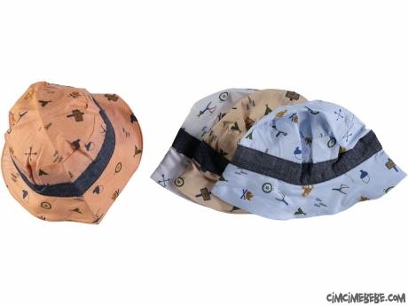 Yazlık Erkek Bebek Şapka