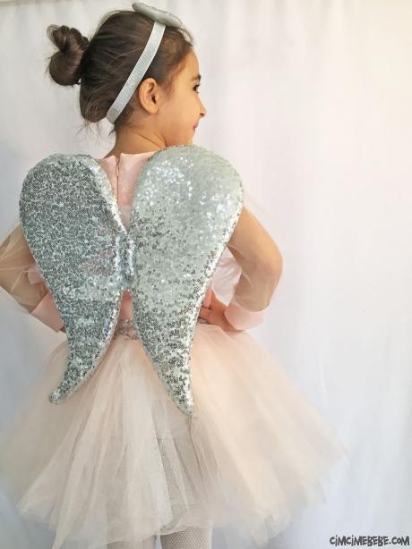 Melek Kanatlı Kız Çocuk Elbise