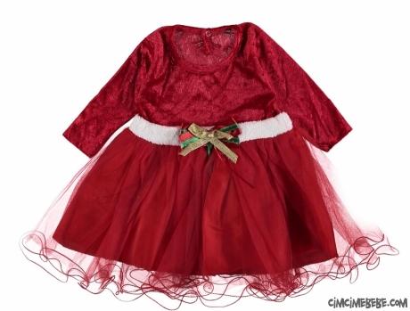 Şık Kadife Yeni Yıl Elbise
