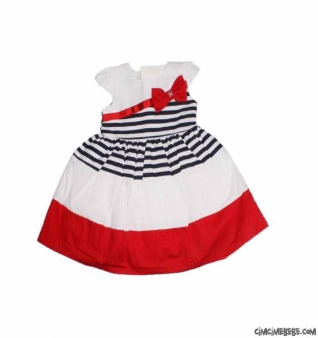 Kabarık Pileli Kız Bebek Elbise