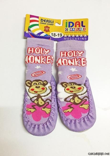 Sevimli Derili Çarık Çorap