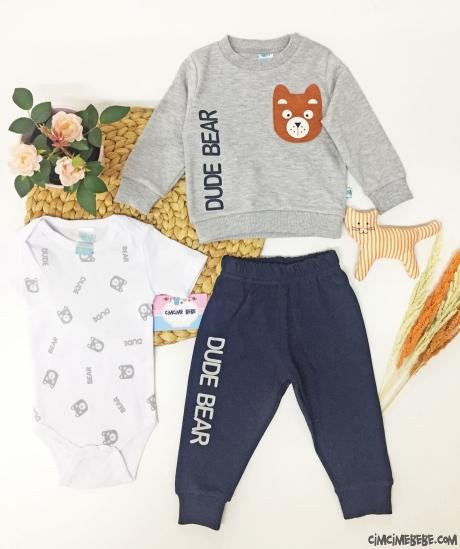 Dude Bear Erkek Bebek 3'lü Takım