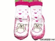 Ayıcık Baskılı Çarık Çorap